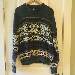 ⚪️ Vintage Woolrich Fair Isle Holiday Sweater